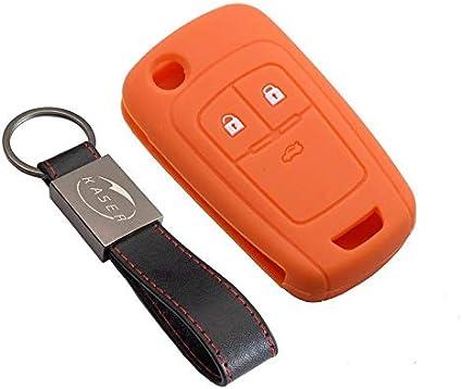 Coque Cover Porte-Cl/és 2//3 Boutons pour Vectra Astra Tigra Corsa Zafira Protection T/él/écommande Voiture kaser Housse /étui en Silicone pour Cl/é Opel Rouge