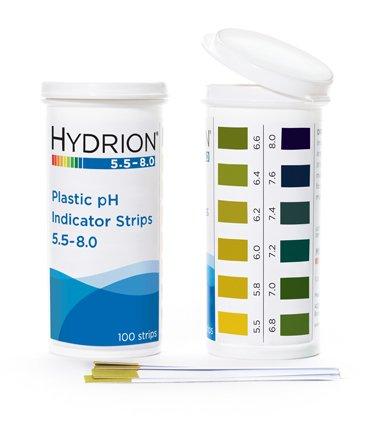 Micro Essential pH Strips, Hydrion ph Range 5.5-8,100 Str...