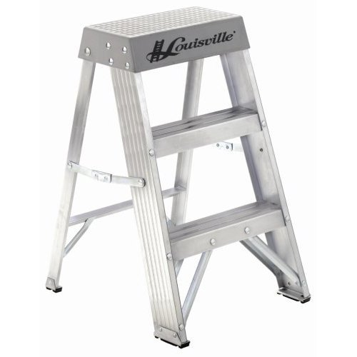 Louisville 2 ft. Aluminum Step Ladder - 300 lbs