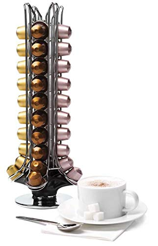 Large Product Image of Prepara PIP-N1050B Espresso Carousel for 50 Capsules, Spins 360-degrees, Black