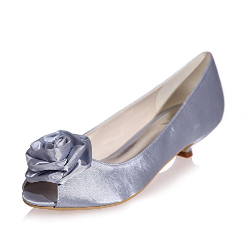 Summer Silk Women'S L Winter More 15 Party Shoes YC available Wedding amp; Fall Toes Night Peep Spring 0700 Colors Gray qInpR7xwp5