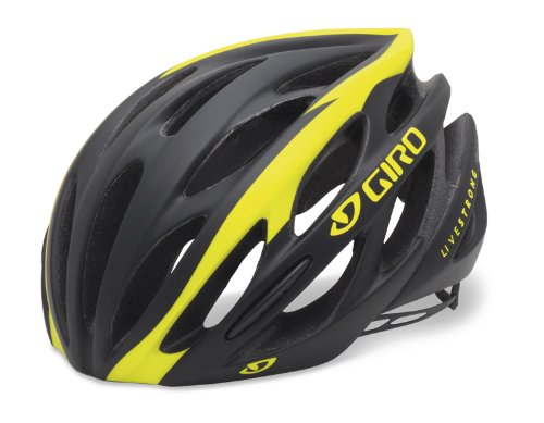 Giro Saros Road/Race Bike Helmet (Matte Black/Yellow Livestrong, Small) (Livestrong Cycling compare prices)