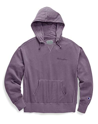 (Champion Men's Vintage Dye Fleece Pullover Hoodie, Dusk Purple, Large)