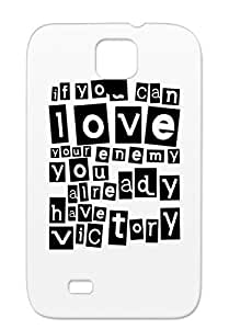 TPU Black For Sumsang Galaxy S4 If You Can Love Your Enemy Victory Preach The Help Preacher Green Peace Quotations Christian Funny Case