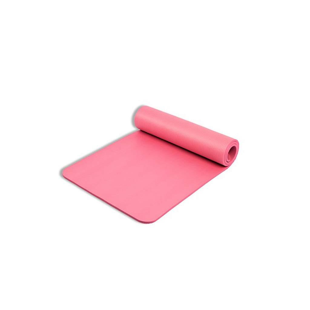 Rose L-HOME Tapis de Yoga en Caoutchouc antidérapant 181  60  1CM   Tapis de Pratique de Danse Fitness (Couleur   violet)