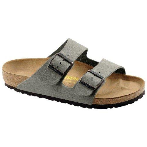 Birkenstock Unisex Arizona Slide Fashion Sandals, Stone Leather, 35 ()