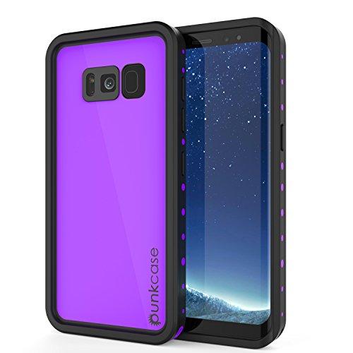 Galaxy S8 Plus Waterproof Case, Punkcase [StudStar Series] [Slim Fit] [IP68 Certified] [Shockproof] [Dirtproof] [Snowproof] Armor Cover for Samsung Galaxy S8 Plus [Purple]