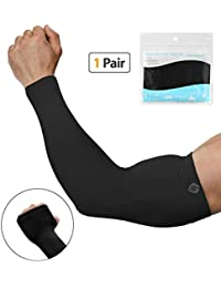 Arm Sleeves for Men Women, UV Protection SPF Cooling Sleeves to Cover arm for Golf Driving Running Cycling Fishing Sports & Tattoo Cover