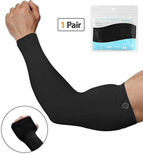 SHINYMOD UV Protection Cooling or Arm Warmer Sunblock Sleeves for Men ()