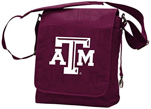 NCAA College Texas A&M Aggies Messenger Diaper Bag, 13.25 x 12.25 x 5.75-Inch, Maroon (Am Messenger)