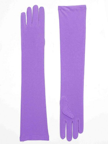 [Long Purple Nylon Gloves] (Jessica Rabbit Wig)