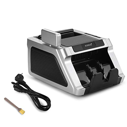 Money Counter with UV, Magnetic and Infrared Counterfeit Detection, Bill Counting Machine with Higher speeds, 1000 Bills Per Minute, Professional Cash Counting Machine and 1 Year Warranty by JUNUO (Image #5)