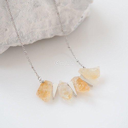 triple-silver-triangle-yellow-raw-citrine-quartz-stone-necklace-healing-power-energy-stone-jewelry