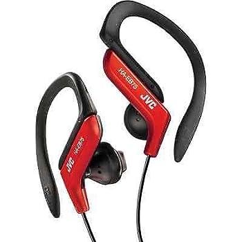 JVC HAEB75R Sports Clip Headphone, Red