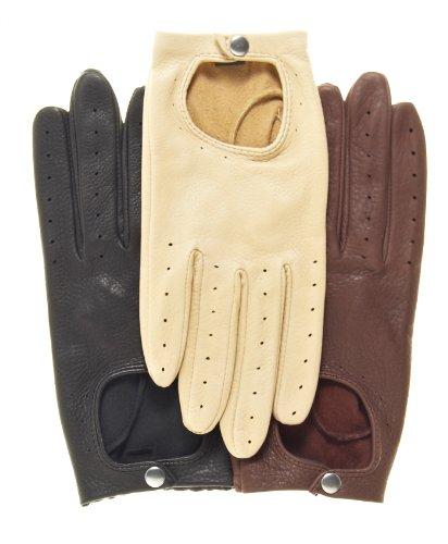 Pratt and Hart Women's Deerskin Leather Driving Gloves