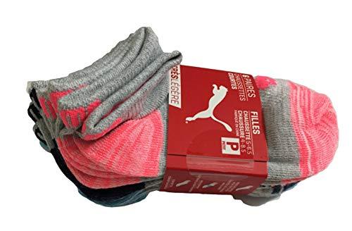 Puma Toddler Girls Color Block Low Cut Socks 6-Pack Size 5-6.5