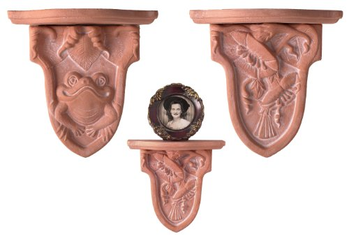 JBK Pottery Wall Sconces In Terra Cotta, Set of 2