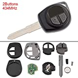 2 Buttons Keyless Uncut Flip Remote Key Fob with