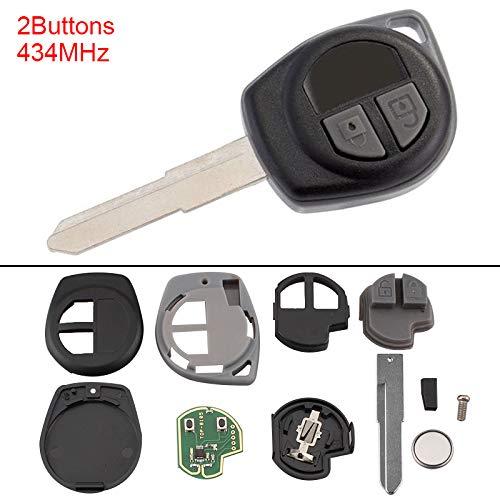 2 Buttons Keyless Uncut Flip Remote Key Fob ID46 Chip Suzuki Swift SX4 Alto JIMNY Vitara IGNIS Splash 2007-2013 433MHz