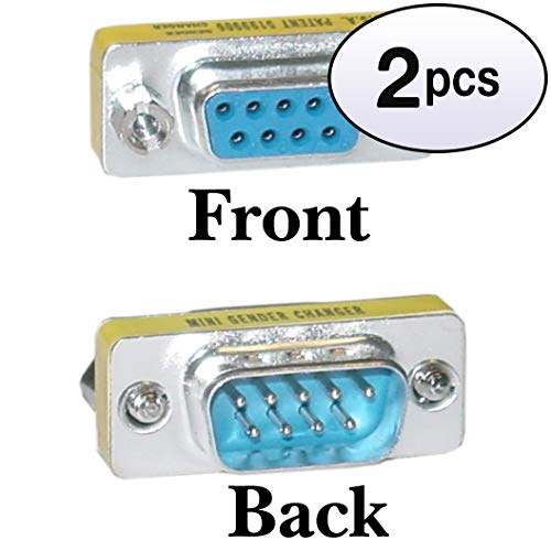 - GOWOS (2 Pack) Serial Mini Port Saver/Coupler, DB9 Male to DB9 Female