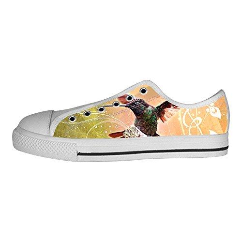 Custom Hummingbird Mens Canvas shoes I lacci delle scarpe in Alto sopra le scarpe da ginnastica di scarpe scarpe di Tela.