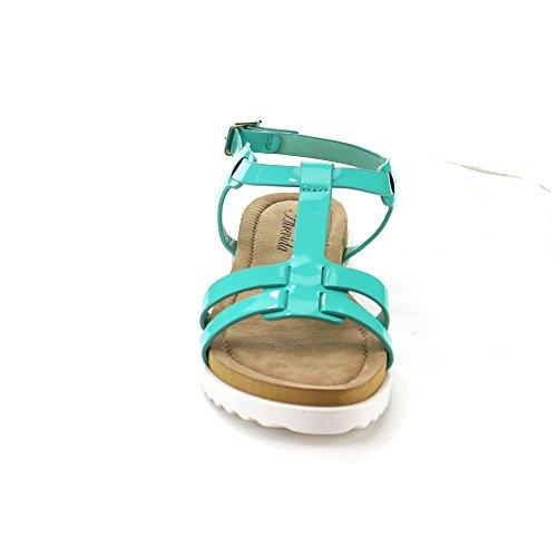 Dev Womens T-strap Perah-06 Gladiator Platte Slingback Strand Sandaal Schoenen Mint