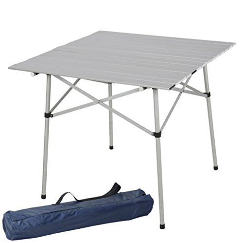 Table Folding Camping Aluminum Roll Up Portable Outdoor Indoor Picnic With Bag Heavy Duty
