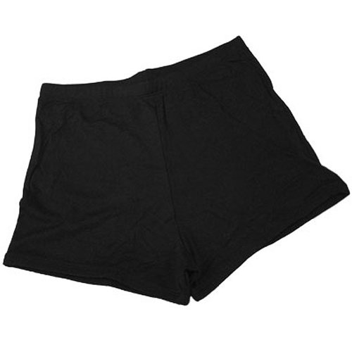 100 % Stretch Nylon Cheerleading Boy-Cut Brief Trunks, A2L, Black (Cut Boy Cheerleading Briefs)