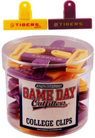 Game Day Outfitters 1936552 Lousiana State - Magnet College Clip Small 2 Assorted 24 DP - Case of 144 by Game Day Outfitters