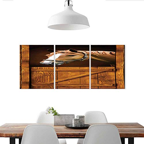 Cheap  Customizable Wall Stickers DIY 3D Sticker Mural Home Horse Old Stall Barn..