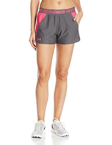 Under Armour Play Up Short 2.0 Pantalones Cortos Deportivos, Mujer Gris (Carbon Heather)
