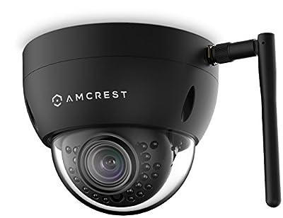 Amcrest ProHD Fixed Outdoor 3-Megapixel (2304 x 1296P) Wi-Fi Vandal Dome IP Security Camera - IP67 Weatherproof, IK10 Vandal-Proof, 3MP (1080P/1296P), IP3M-956B (Black) by Amcrest
