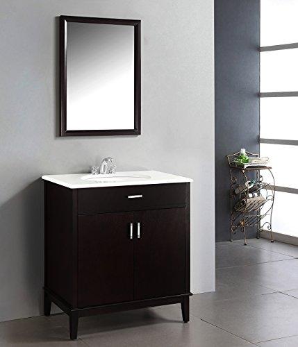 Contemporary Urban Bath Vanity Light: Simpli Home NL-CLT090201-30-2A Urban Loft 30 Inch Contemporary Bath Vanity In Dark Espresso