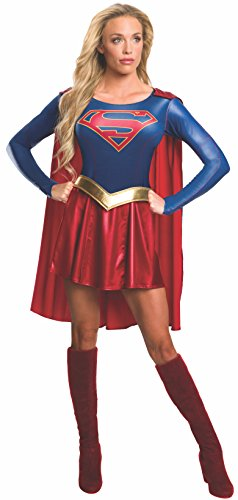 Costumes Dress Fancy Super (Rubie's Women's Supergirl TV Show Costume Dress, Multi,)