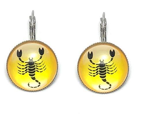 Fashion Trendy - Scorpio Zodiac Sign Dangle Earrings For Women / AZEACRM06-SCO