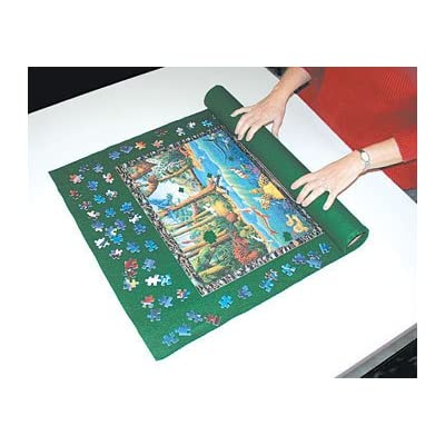 Jigsaw Puzzle Roll Up Mat - Small - 24 x 36 Inches: SunsOut: Toys & Games