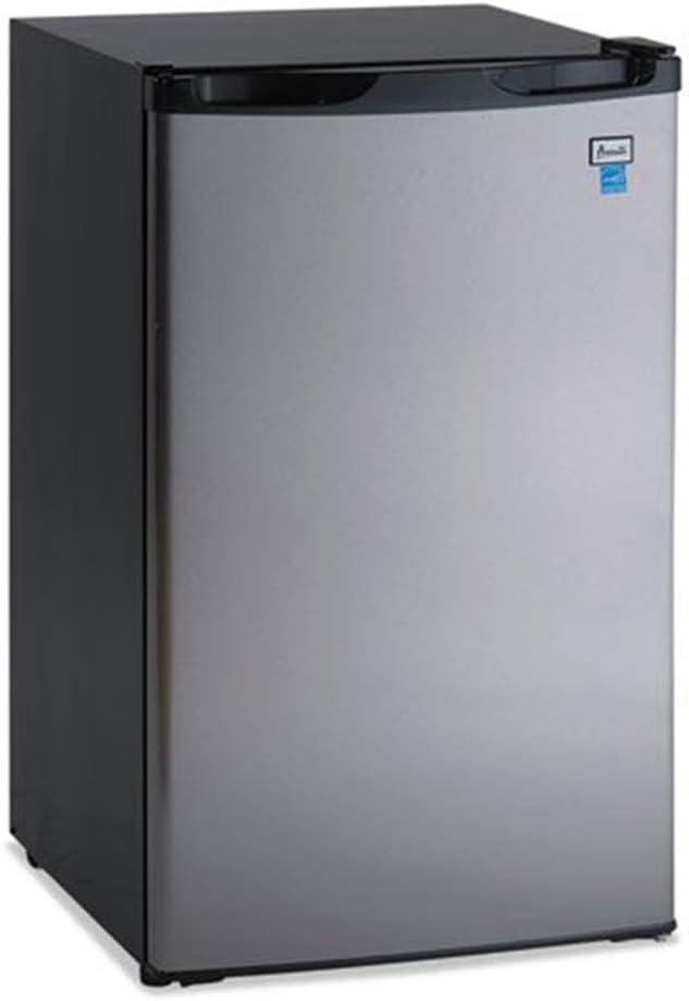 Avanti Model Rm4436ss - 4.4 Cf Counterhigh Refrigerator - Black W/stainless Steel Door - 4.40 Ft - Manual Defrost - Black, Stainless Steel by Avanti