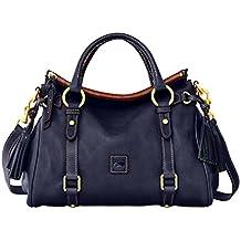 Dooney & Bourke Florentine Small Satchel Shoulder Bag Navy