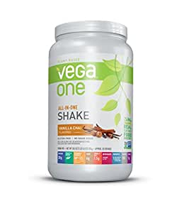 Vega One All-In-One Plant Based Protein Powder, Vanilla Chai, 1.93 lb, 20 Servings