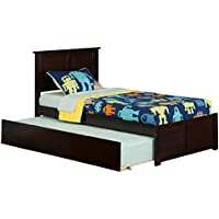 Madison Flat Panel Foot Board with Urban Trundle Bed, Twin, Espresso