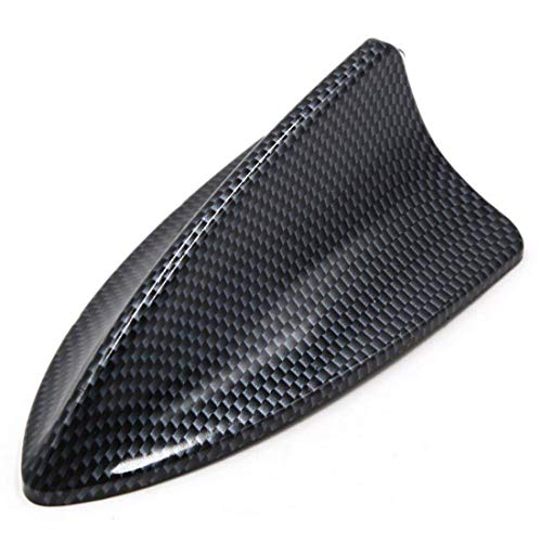 AUTUT Universal Decorative Car Antenna Fiber Carbon Pattern Self Adhesive Shark Fin -