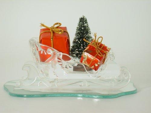 (Swarovski Crystal Figurine #205165, Sleigh, Retired)