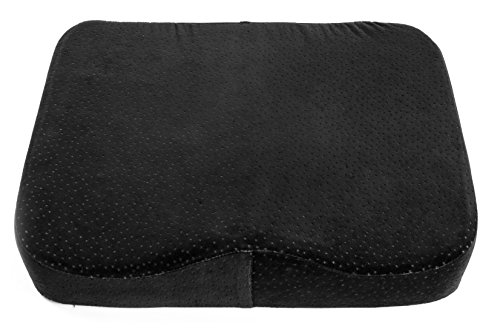 Amazon Memory Foam Seat Cushion Luxury fice Chair Pad with a Buckle to Prevent Sliding by Aeris Car Seat Cushion with Machine Washable Black