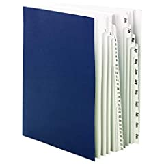 "Desktop/file sorters keep paperwork neatly categorized for follow-up action. Heavyweight dividers are bound book-style so it's easy to open to the desired section. Each section expands to 1-3/8"". Accordion fold is tape reinforced for durabil..."