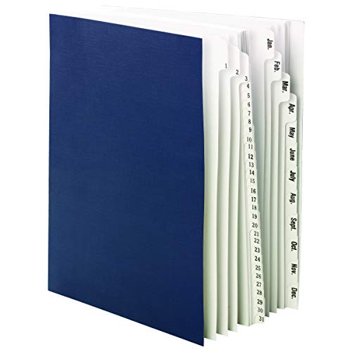 Smead Desk File/Sorter, Daily (1-31) and Monthly (Jan.-Dec.), 43 Dividers, Letter Size, Blue (89235) ()