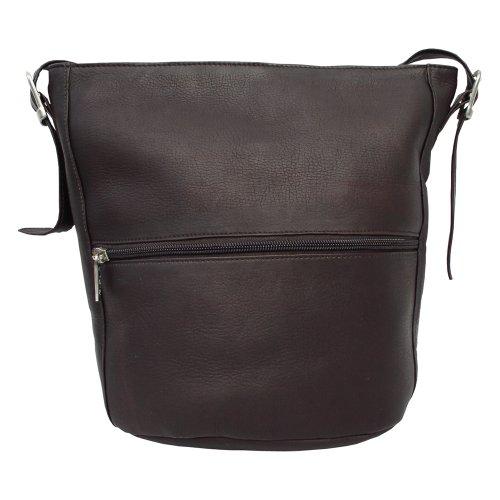 Piel Leather Bucket Bag, Chocolate, One Size