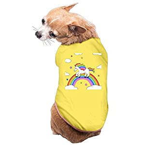 WUGOU Dog Cat Pet Shirt Clothes Puppy Vest Soft Thin Rainbow Unicorn 3 Sizes 4 Colors Available