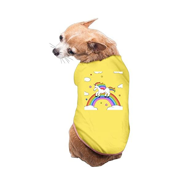 WUGOU Dog Cat Pet Shirt Clothes Puppy Vest Soft Thin Rainbow Unicorn 3 Sizes 4 Colors Available 3