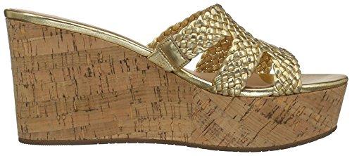 new Old Wedge Women's kate Sandal Gold spade york Taravela BqCngw1