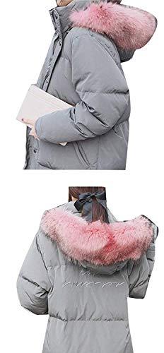 Élégant De Fermeture Glissière Veste Couleur Casual Grau Manteau Veste Femmes Longue À Capuche Automne Fille Poches À Hiver lannister Down Manches Pure Qk Mode Survêtement Matelassé À Uxq11g